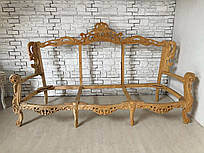 Диван на три места и два кресла в стиле барокко. Комплект мягкой мебели, каркасы