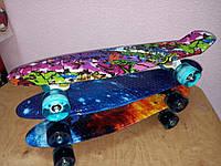 Скейт.Penny Board Graffiti Светящиеся колеса