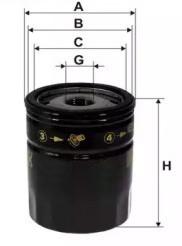 Фильтр масляный MG 550 / MG6