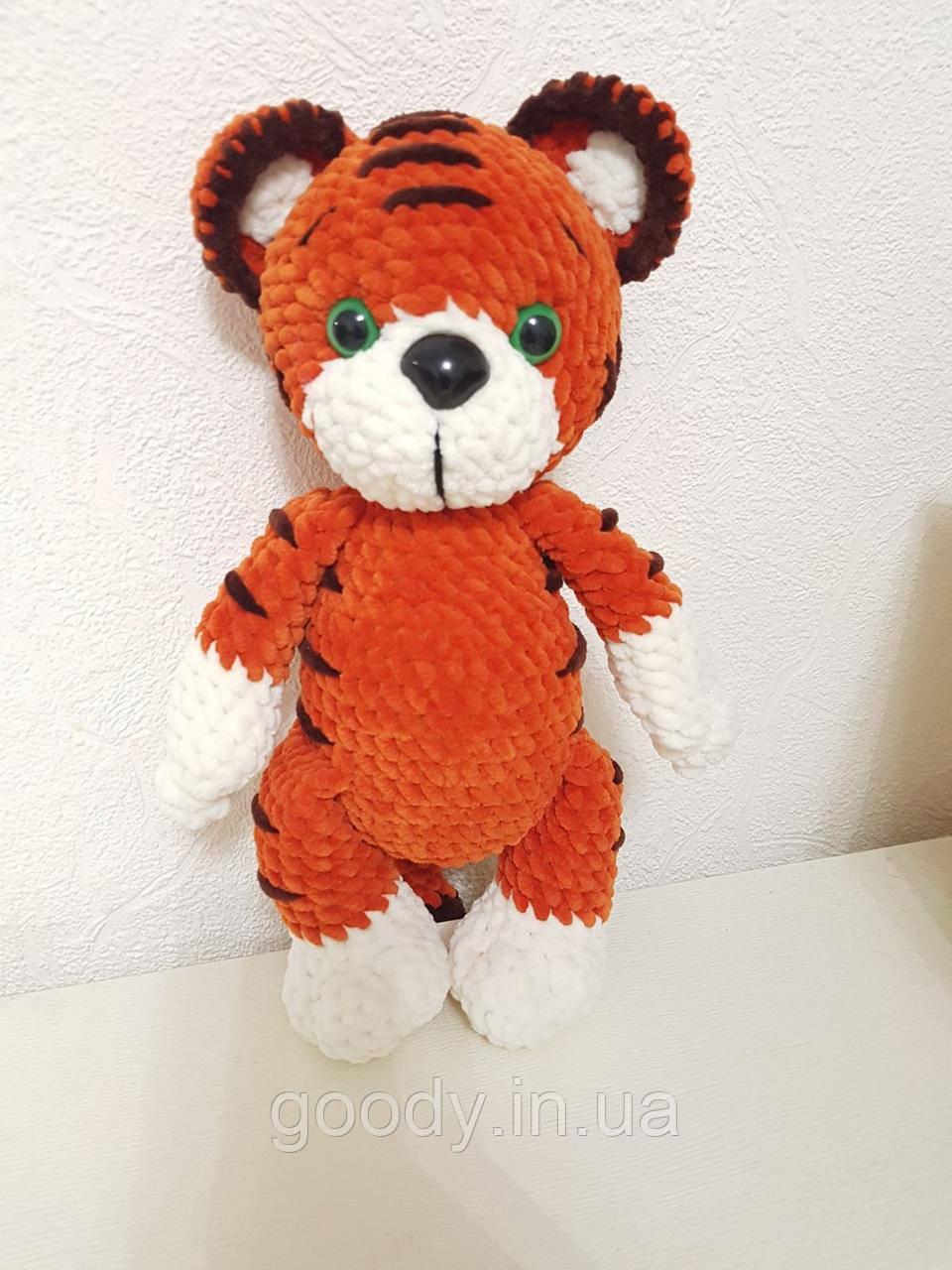 М'яка іграшка тигр із плюшевої пряжі 30 cm