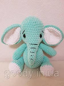 М'яка іграшка слон із плюшевої пряжі 30 cm