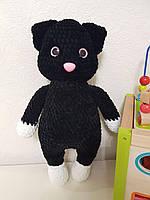 М'яка іграшка котик із плюшевої пряжі 35 cm