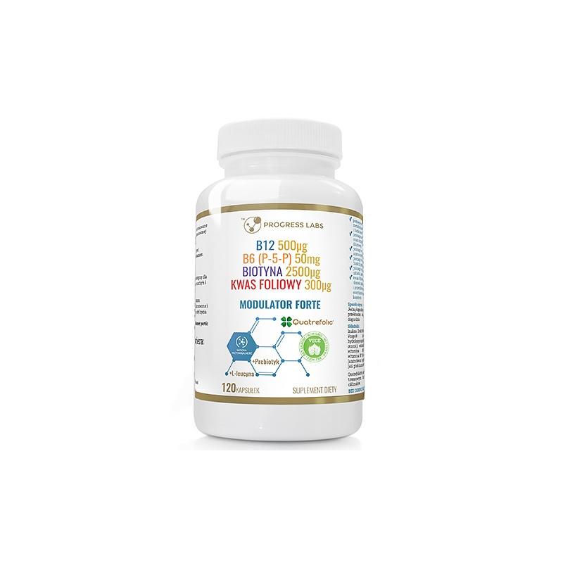 Модулятор гомоцистеїну, Вітамін B6 (P-5-P), B7 - Біотин, B9 - Активна фолієва кислота, B12 - Метилкобаламін