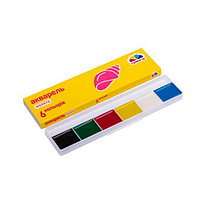 Акварель Гамма Справжня дитяча 6 цветов (картонный пенал)
