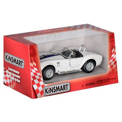 Игрушечная машинка металлическая Kinsmart KT5322W Shelby Cobra Белый