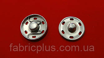 Кнопка нержавеющая пришивная 21 мм никель