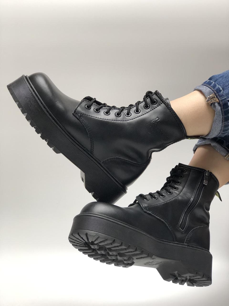 Жіночі черевики Dr. Martens Jadon All black (Демі). [Розміри в наявності: 36,37,38,39,40]