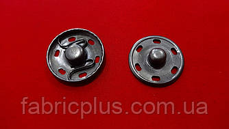 Кнопка нержавеющая пришивная 21 мм черненная