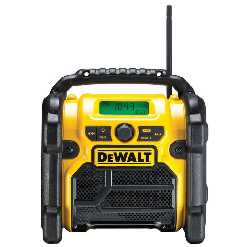 Радиоприемник AM/FM, AUX порт, DeWALT DCR019
