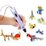 3D ручка MyRiwel Pen 2 с LED дисплеем | Детская 3д ручка для рисования MyRiwel 2 фиолетовая, фото 4
