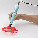 3D ручка MyRiwel Pen 2 з LED дисплеєм | Дитяча 3д ручка для малювання MyRiwel 2 блакитна, фото 6