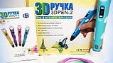 3D ручка MyRiwel Pen 2 з LED дисплеєм | Дитяча 3д ручка для малювання MyRiwel 2 блакитна, фото 8