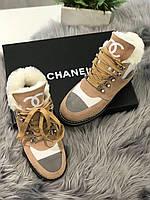 Теплі жіночі черевики Шанель (репліка), фото 1
