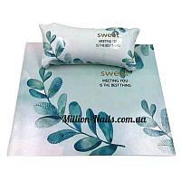 Подлокотник для маникюра с ковриком, с рисунками(Листья)