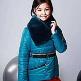 Курточка, цвет морская волна, эко мех мутон, подкладка микрофлис, Моне, р.140,152,164, фото 3