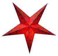 """Светильник картонный Звезда пятилучевая """"Red Butterfly Embd."""""""