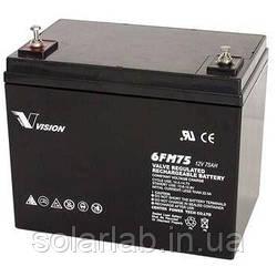 Акумуляторна батарея Vision FM 12V 75Ah