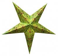 """Светильник картонный Звезда пятилучевая """"Green Butterfly Embd."""""""