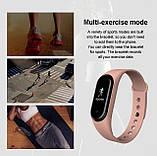 Фитнес браслет M5 в стиле Mi Band 5 (Smart Band) Розовый Умный браслет, фото 4