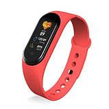Фитнес браслет M5 в стиле Mi Band 5  (Smart Band)  Красный Умный браслет, фото 5