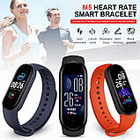 Фитнес браслет M5 в стиле Mi Band 5  (Smart Band)  Красный Умный браслет, фото 6