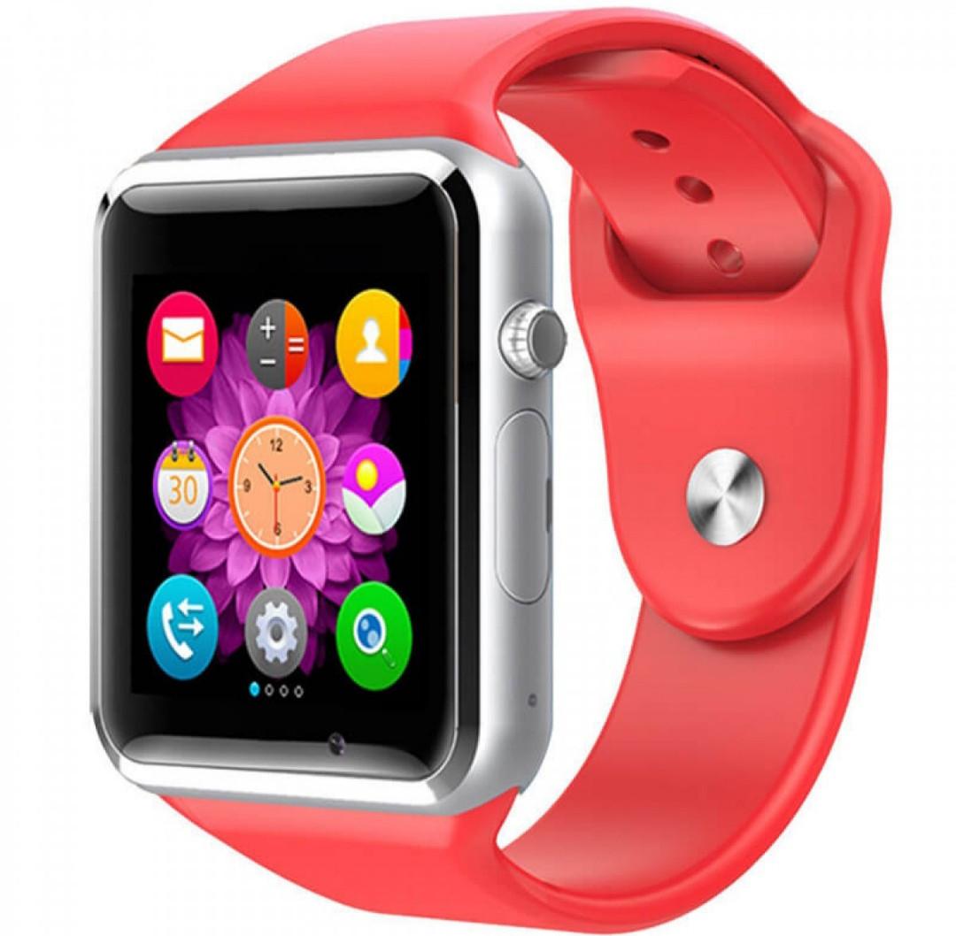 Смарт-часы (Smart Watch) Умные часы А1 Красные