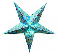 """Светильник картонный Звезда пятилучевая """"Firozi Butterfly Embd."""""""