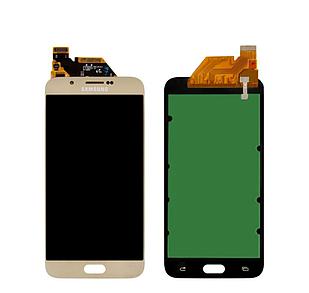 Модуль для Samsung Dual Galaxy A8, Samsung A800, золотистый, дисплей + сенсор