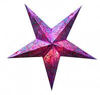 """Светильник картонный Звезда пятилучевая """"Purple Butterfly Embd."""""""