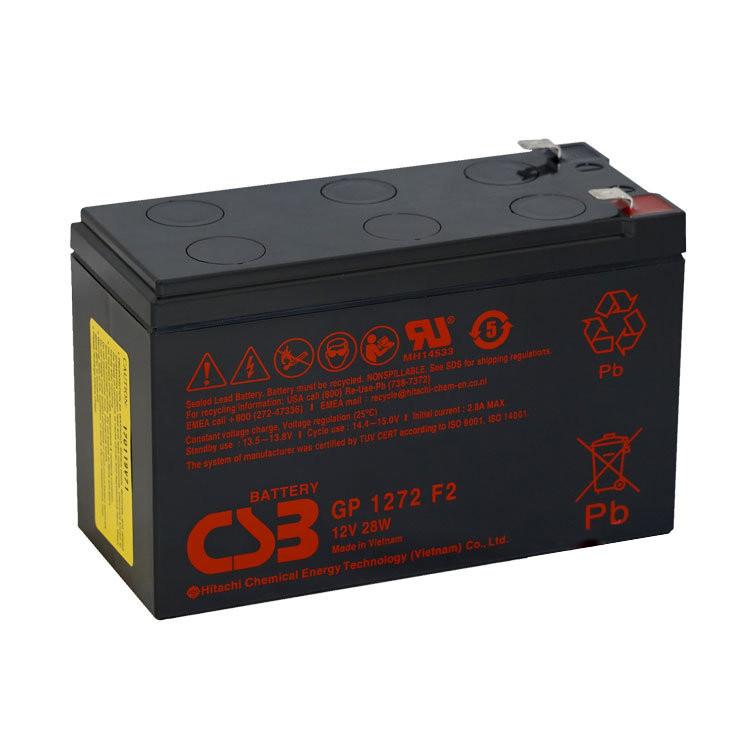 Акумуляторна батарея AGM CSB GP1272F2, 12V 7,2Ah (151х65х100мм) 2,4кг Q10