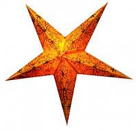 """Светильник картонный Звезда пятилучевая """"Orange Butterfly Embd."""""""