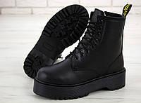 Жіночі зимові черевики Dr. Martens Jadon All black (Хутро). [Розміри в наявності: 36,37,39,40], фото 1