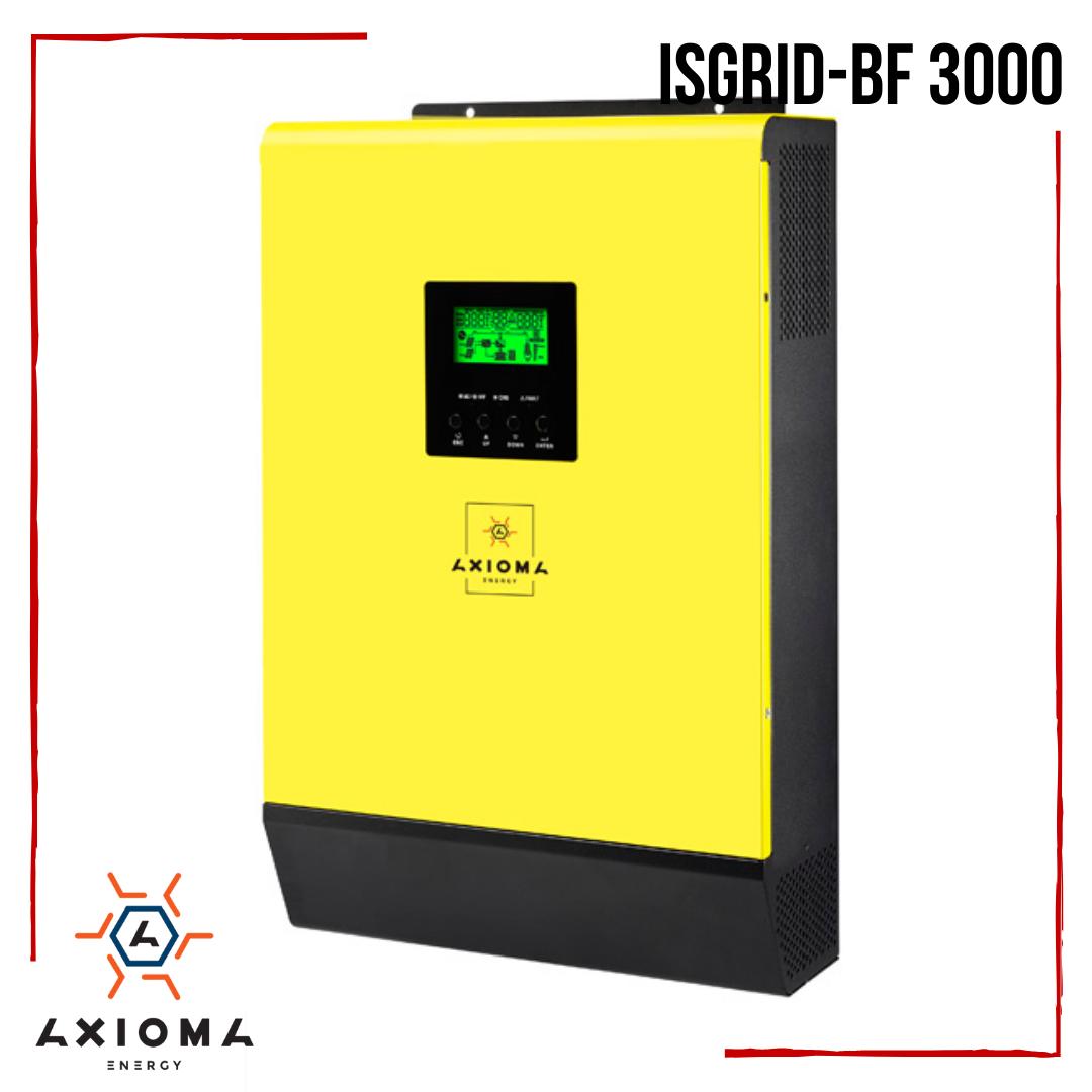 Гибридный инвертор AXIOMA energy ISGRID-BF 3000 с резервной функцией, 3кВт, 220В + зеленый тариф