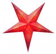 """Светильник картонный Звезда пятилучевая """"Red Flower Embd."""""""