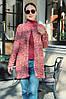 Женский стильный кардиган трапецевидного кроя из вязки, фото 7