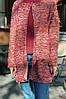 Женский стильный кардиган трапецевидного кроя из вязки, фото 10