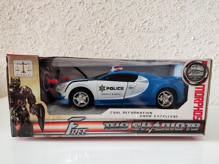 Машинка Трансформер Lamborghini СИНЯ POLICE Car Robot Size 1:18