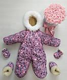 Зимний комбинезон конверт для новорожденного! Новинка!! ХИТ СЕЗОНА!, фото 3