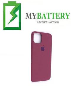 Чехол Silicone Case original (чехол-бампер) iPhone 11 бордовый (42)