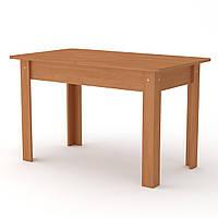 Стол кухонный КС-5 прямоугольный раскладной, столы обеденные раздвижные, 70х120х74 см ольха (Компанит)