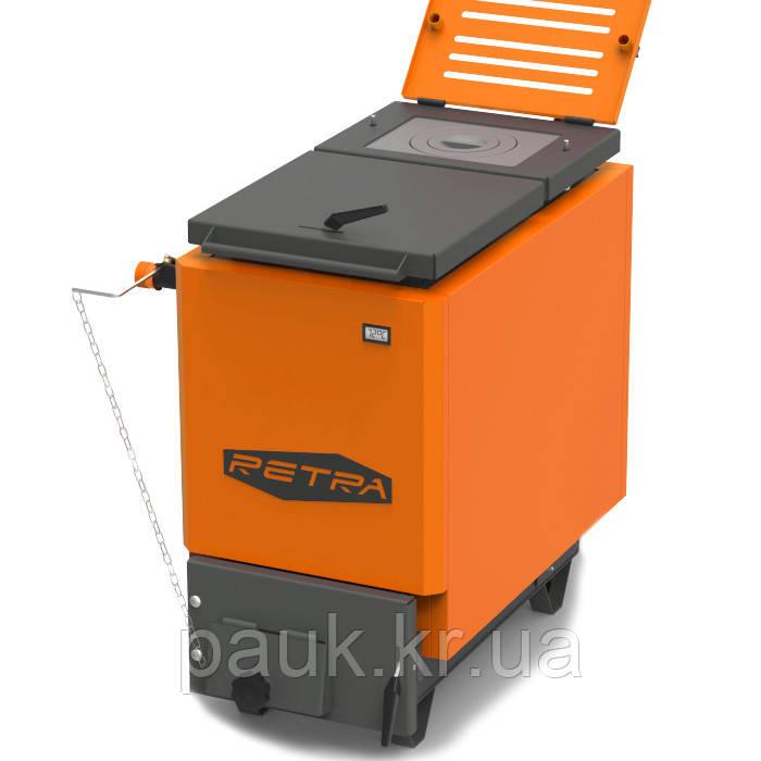 Энергонезависимый котел 40 кВт РЕТРА-6М Orange, шахтный твердотопливный котел