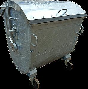 Оцинкований сміттєвий контейнер 1,1 м3.