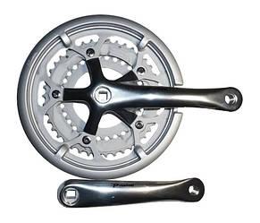 Шатуны Prowheel Solid 320 42/52T шоссейные серебристые с защитой