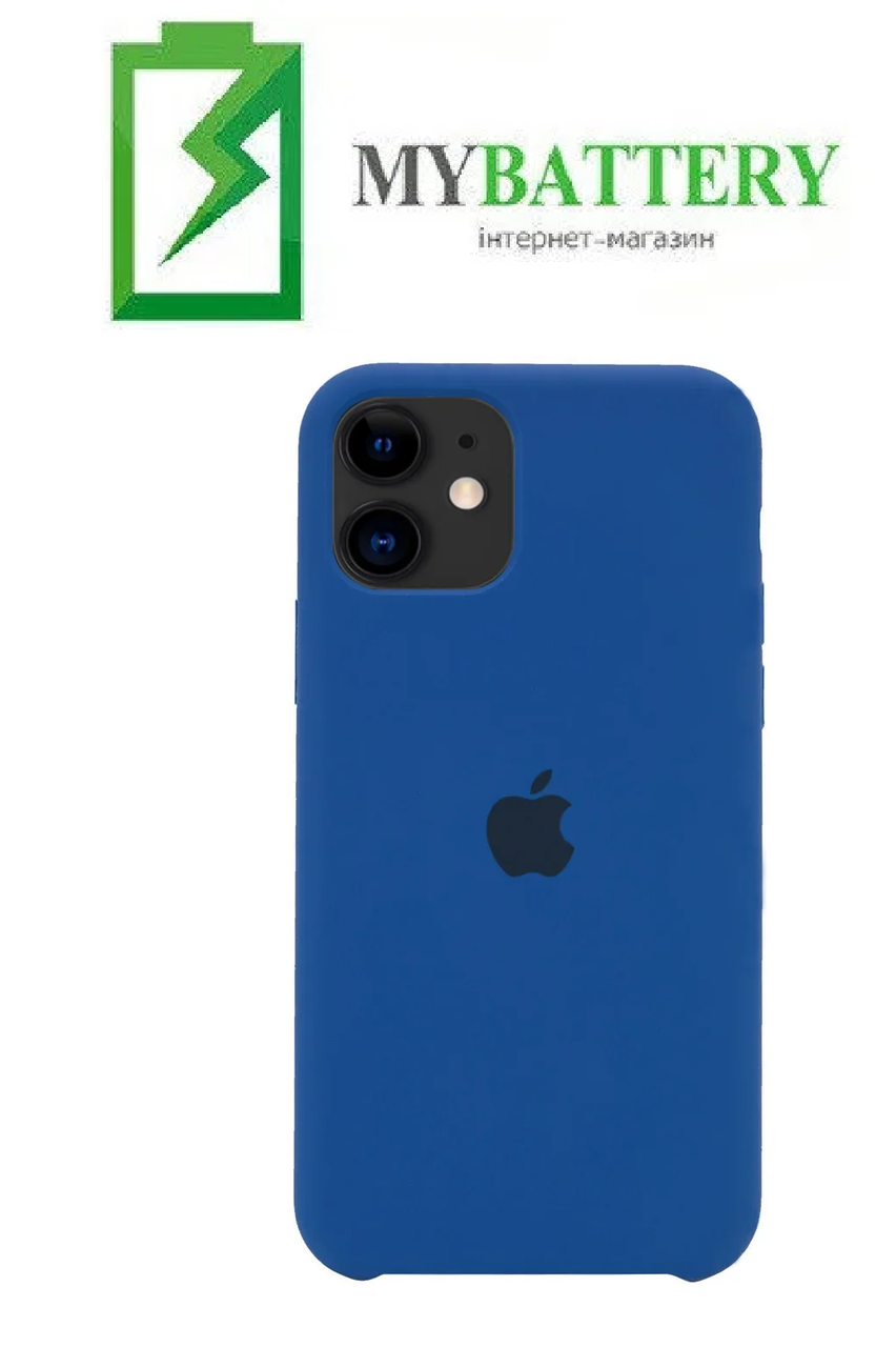 Чехол Silicone Case original (чехол-бампер) iPhone 11 синий (44)