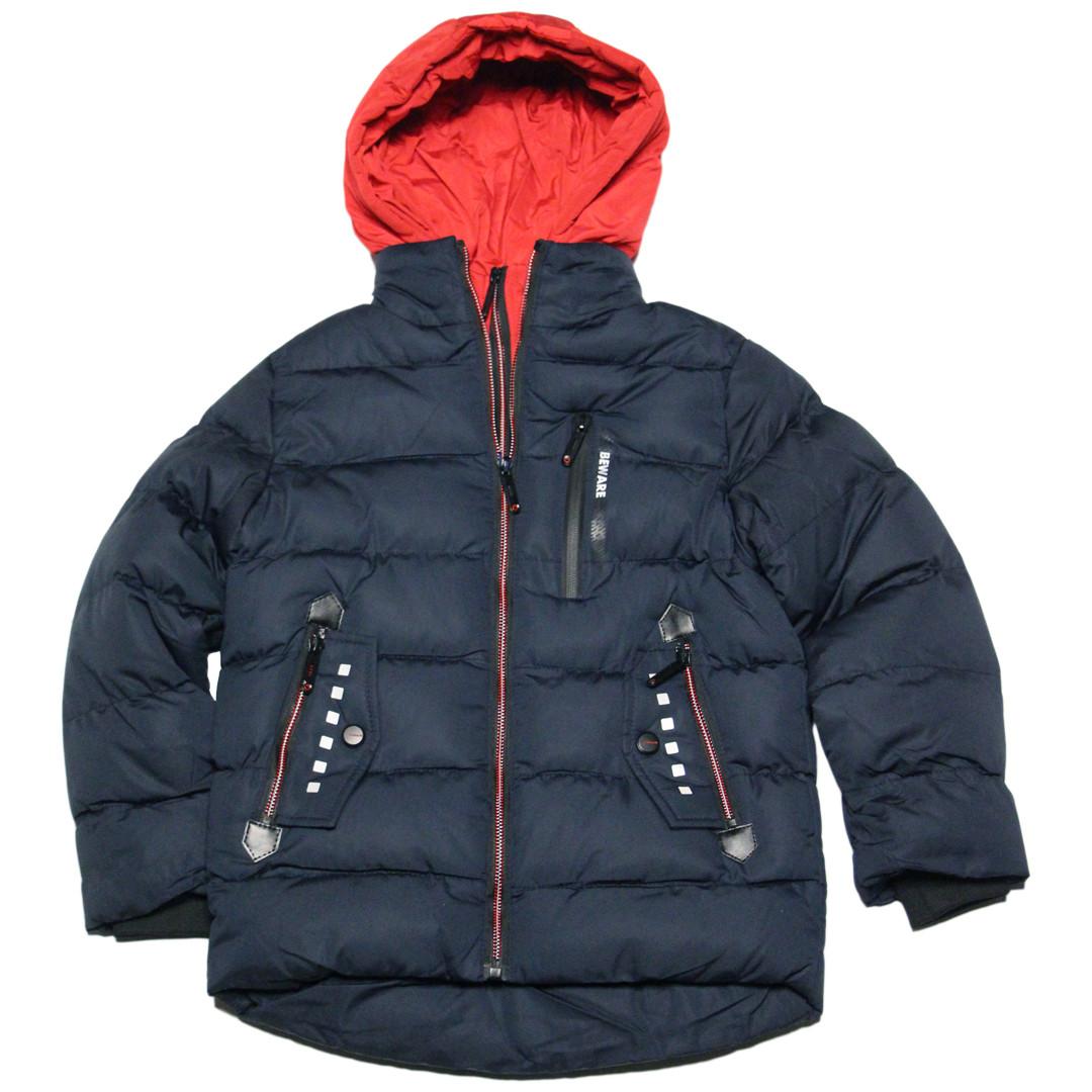 Модная зимняя стеганая куртка для мальчика 134-140 рост Венгрия синяя