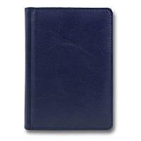 Щоденник н/дат А6 Sarif ЗВ-151 синій +срібло