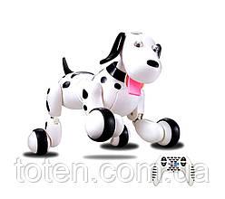Робот Собака Радіокерована 30 см HappyCow Dog 18 функцій, світло, звук 777-338 Чорна