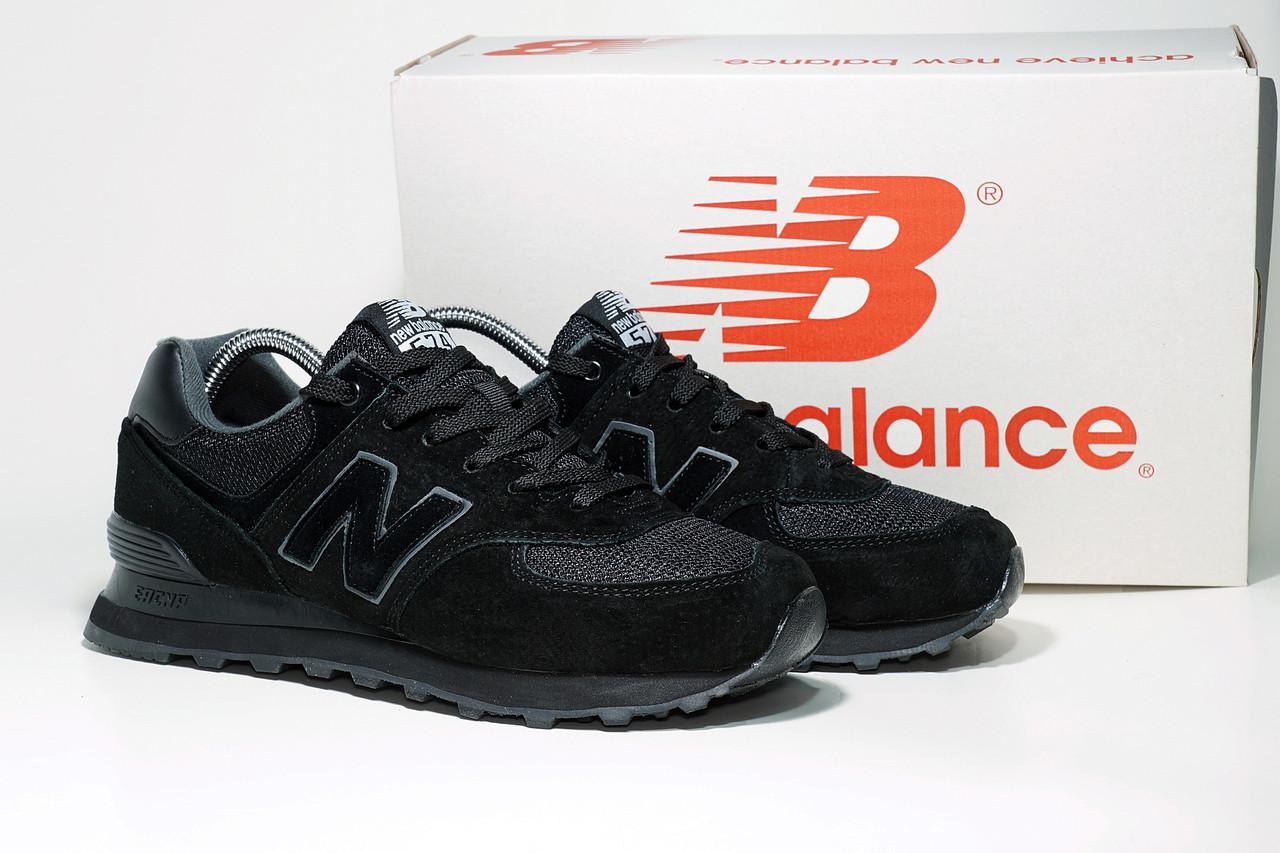 Мужские черные кроссовки New Balance 574