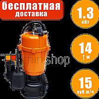 Фекальный насос для выгребных ям PowerCraft WQD 1300f, погружной дренажно фекальный насос для грязной воды
