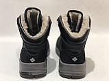Мужские зимние ботинки Paolla на меху. Спортивные ботинки, кроссовки из искусственной кожи Черные, фото 10